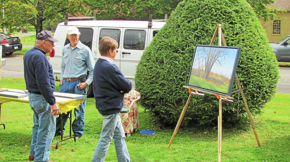John Nestor/Register Citizen Artists participated in Winchester Center Day on the green Saturday. The event, organized by Winchester Center Congregational Church, celebrated the many organizations and residents of the small community.