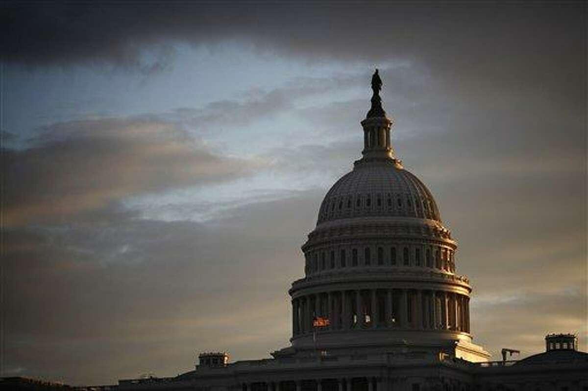 The Capitol is seen at sunrise in Washington, Monday, Jan. 7, 2013. (AP Photo/J. Scott Applewhite)