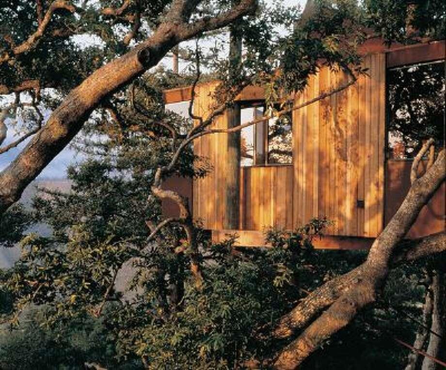 The treehouses at Big Sur's Post Ranch Inn. Photo:  K.B. Kaplan /  K.B. Kaplan