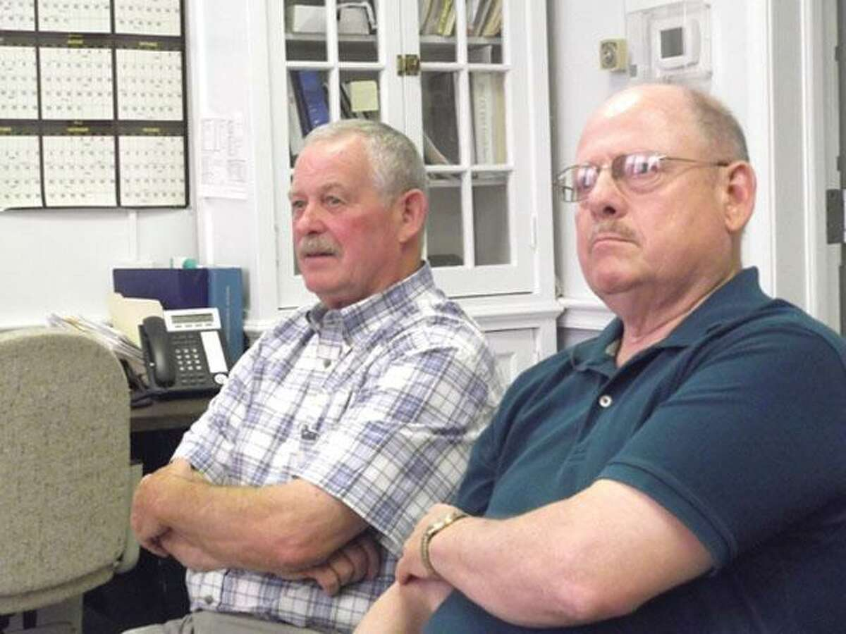 Thomas A. Breakell, left, and Wilrose Duquette in 2011. File photo.