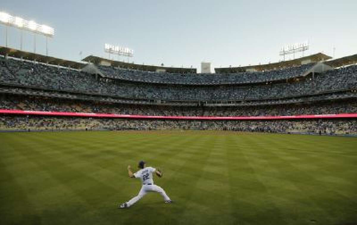 Dodger Stadium as seen in its more natural baseball configuration.