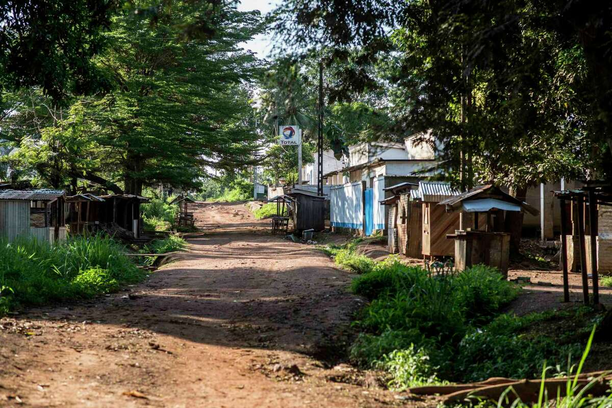 This Aug. 28 photo shows a view of the Christian neighborhood market, abandoned by its citizen who fled into the bush for fear of attacks by armed Muslim militias in Boda, Central African Republic. More than 5,000 people have died in sectarian violence in the Central African Republic since December.