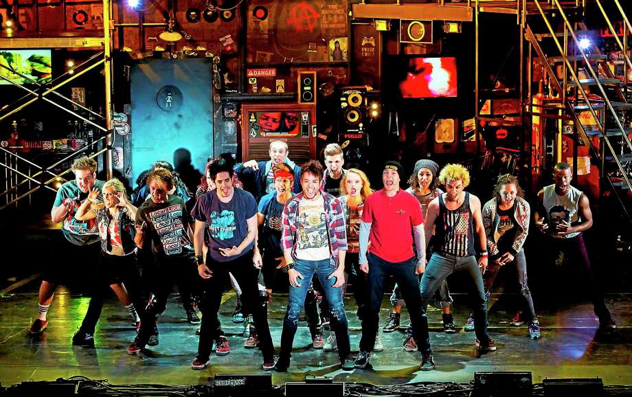 "Submitted photos - Palace Theater The cast of ""American Idiot"" performs a scene from the musical, being staged at the Palace Theater in Waterbury. Photo: Journal Register Co."