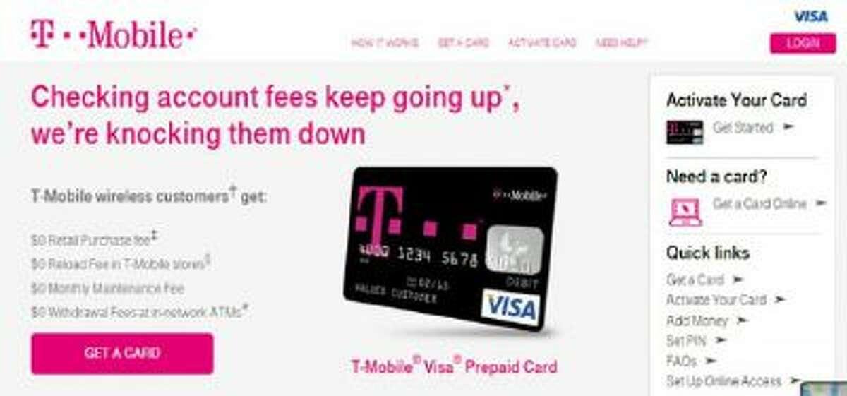 A screenshot of from T-Mobile's Mobile Money program website.