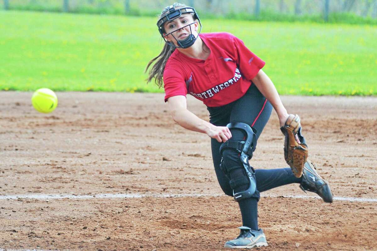 Northwesternís Monica Swartley pitched the whole game, striking out 10 batters in the Highlanderís 5-4 win over Thomaston.
