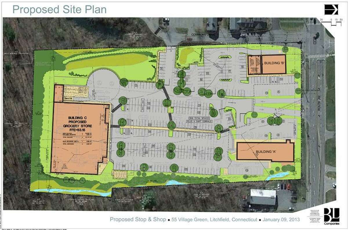 Plans for a new Stop & Shop supermarket in Litchfield.
