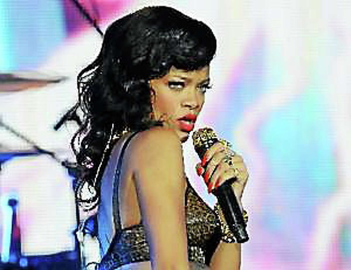 This Nov. 19, 2012, file photo shows Rihanna performing at the Kentish Town Forum in London.