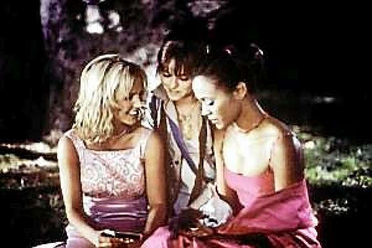 "Britney Spears (left), Taryn Manning and Zoe Saldana star in ""Crossroads."""
