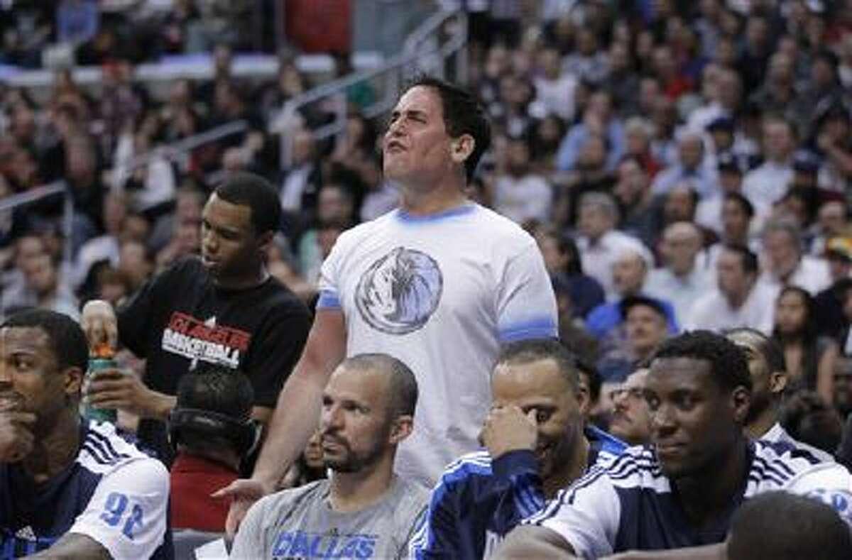 Dallas Mavericks owner Mark Cuban during an NBA basketball game between the Los Angeles Clippers and the Dallas Mavericks in Los Angeles, Wednesday, March 30, 2011.