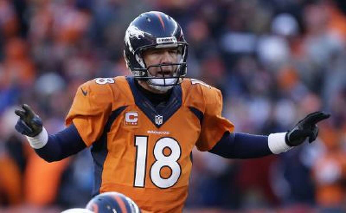 Peyton Manning clinched his third Super Bowl trip with a win over New England on Sunday.