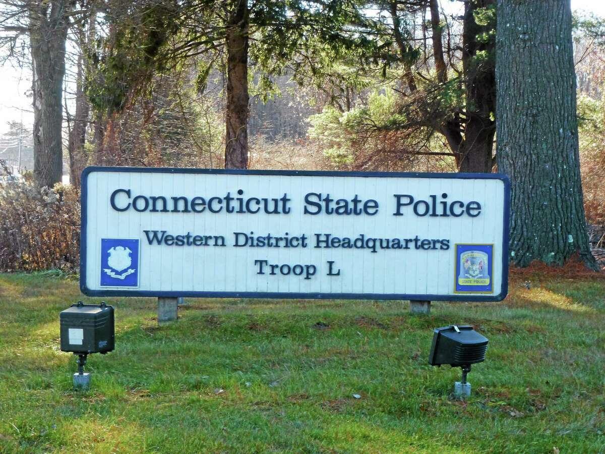 Ryan Flynn - Register Citizen State Police Troop L barracks in Litchfield.