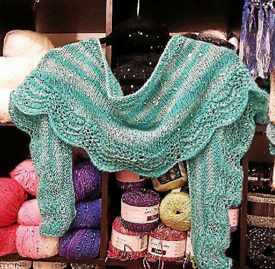 Photo courtesy of Ginger Balch A shawlette, customized by the creator, is an irresistible and simple project. Photo: Journal Register Co.