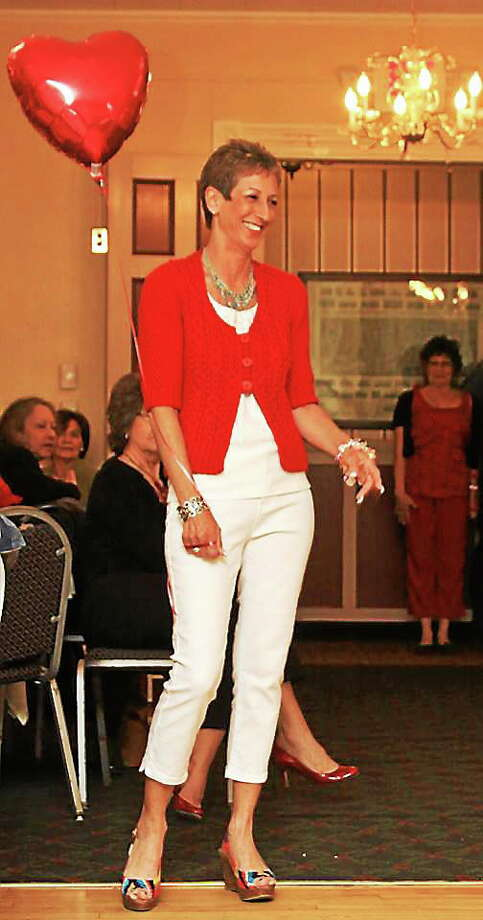 Submitted photo courtesy of Ginger Balch A model shows her fashionable side at the 2013 Heart Health for Women event at the Yankee Pedlar. The event returns to the Pedlar Sunday, and is being held to benefit Charlotte Hungerford Hospital and the American Heart Association. Photo: Journal Register Co.