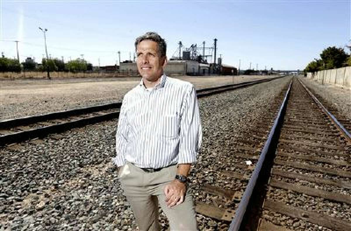 Jeff Morales, chief executive officer of the California High Speed Rail Authority, poses July 15 in Fresno, Calif., where construction of the controversial $68 billion bullet train would begin.