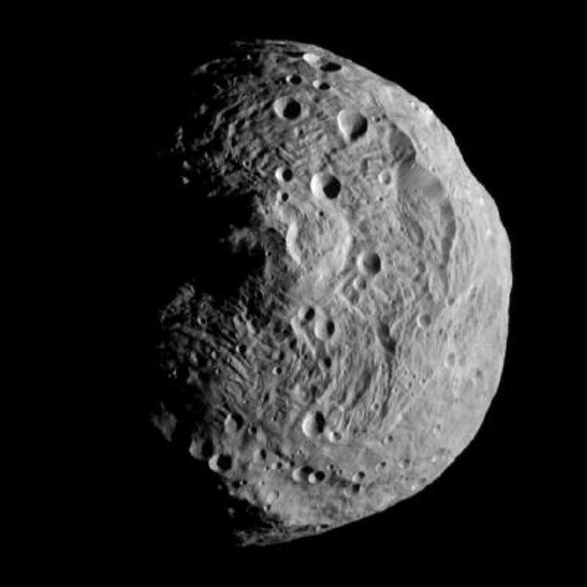 This file image released by the Jet Propulsion Laboratory on Monday, July 18, 2011 shows an asteroid photographed by the Dawn spacecraft on July 17, 2011.