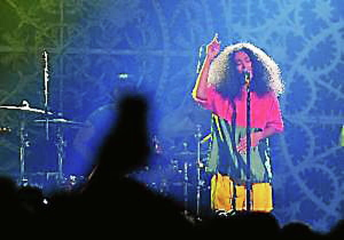 Solange Knowles performs onstage at the Vulture Festival Presents MIA + Solange at Webster Hall on May 10, 2014, in New York City.