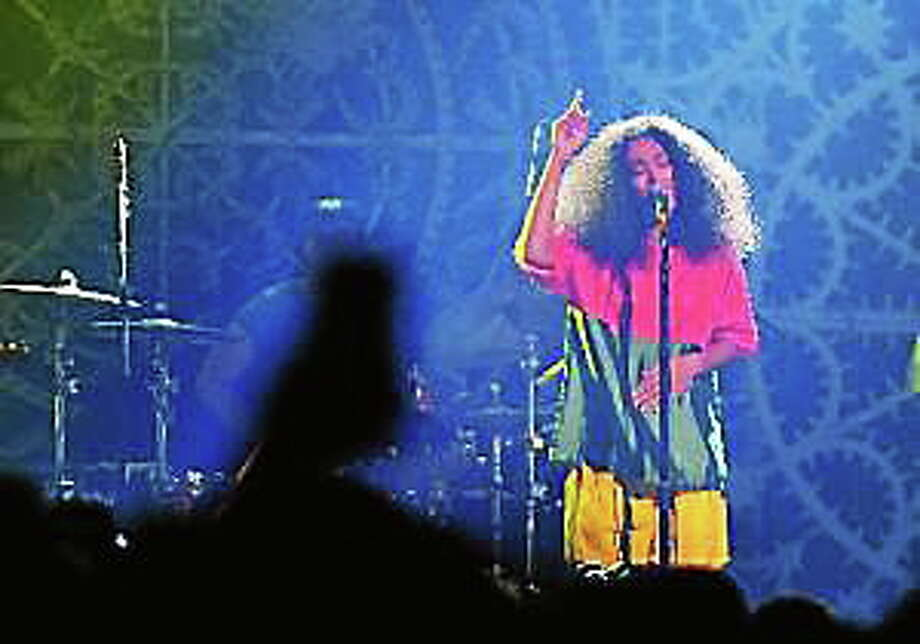 Solange Knowles performs onstage at the Vulture Festival Presents MIA + Solange at Webster Hall on May 10, 2014, in New York City. Photo: (Stephen Lovekin — Getty Images)