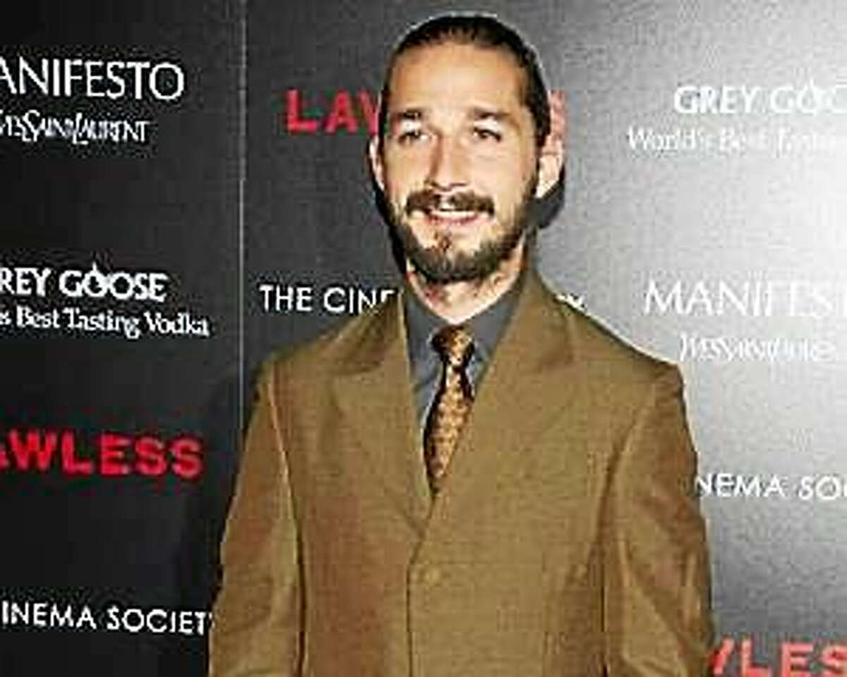 """In this Aug. 13, 2012 file photo, Shia LaBeouf attends a screening of """"Lawless"""" hosted by The Weinstein Company and The Cinema Society in New York."""
