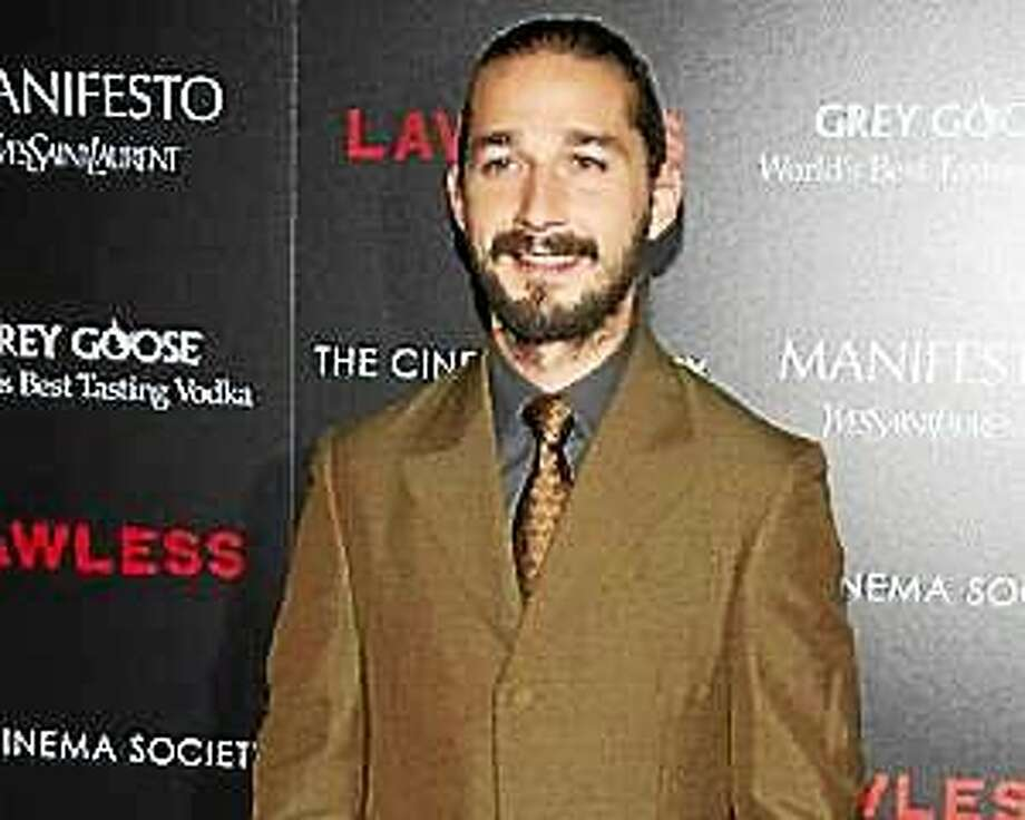"""In this Aug. 13, 2012 file photo, Shia LaBeouf attends a screening of """"Lawless"""" hosted by The Weinstein Company and The Cinema Society in New York. Photo: (Charles Sykes — Invision)"""
