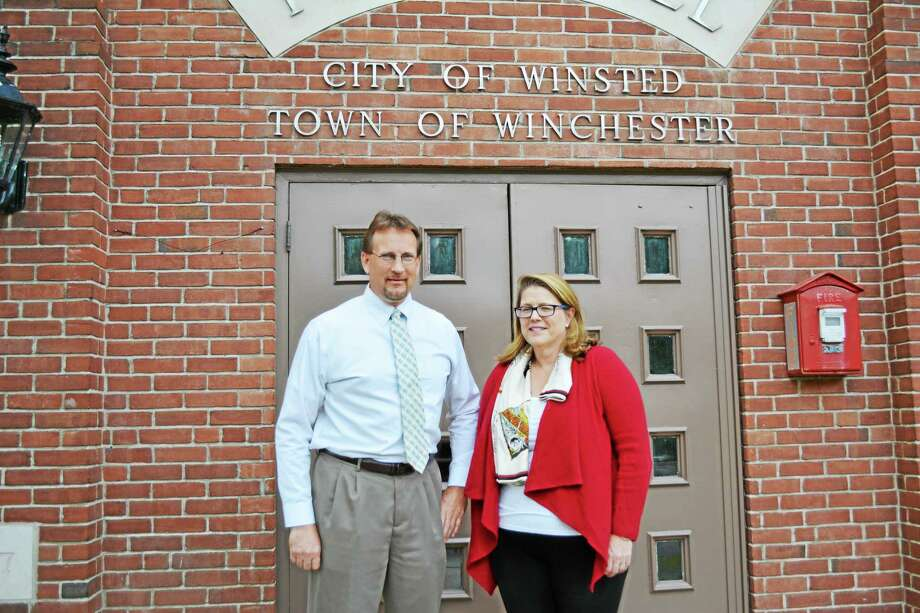 Glenn Albanesius and Marsha Sterling are the Republican candidates for the Board of Selectmen. Photo: Ryan Flynn — The Register Citizen