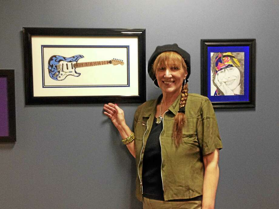 The May artist of the month at the Register Citizen is Barbara Lombardo. Photo: Jenny Golfin — Register Citizen