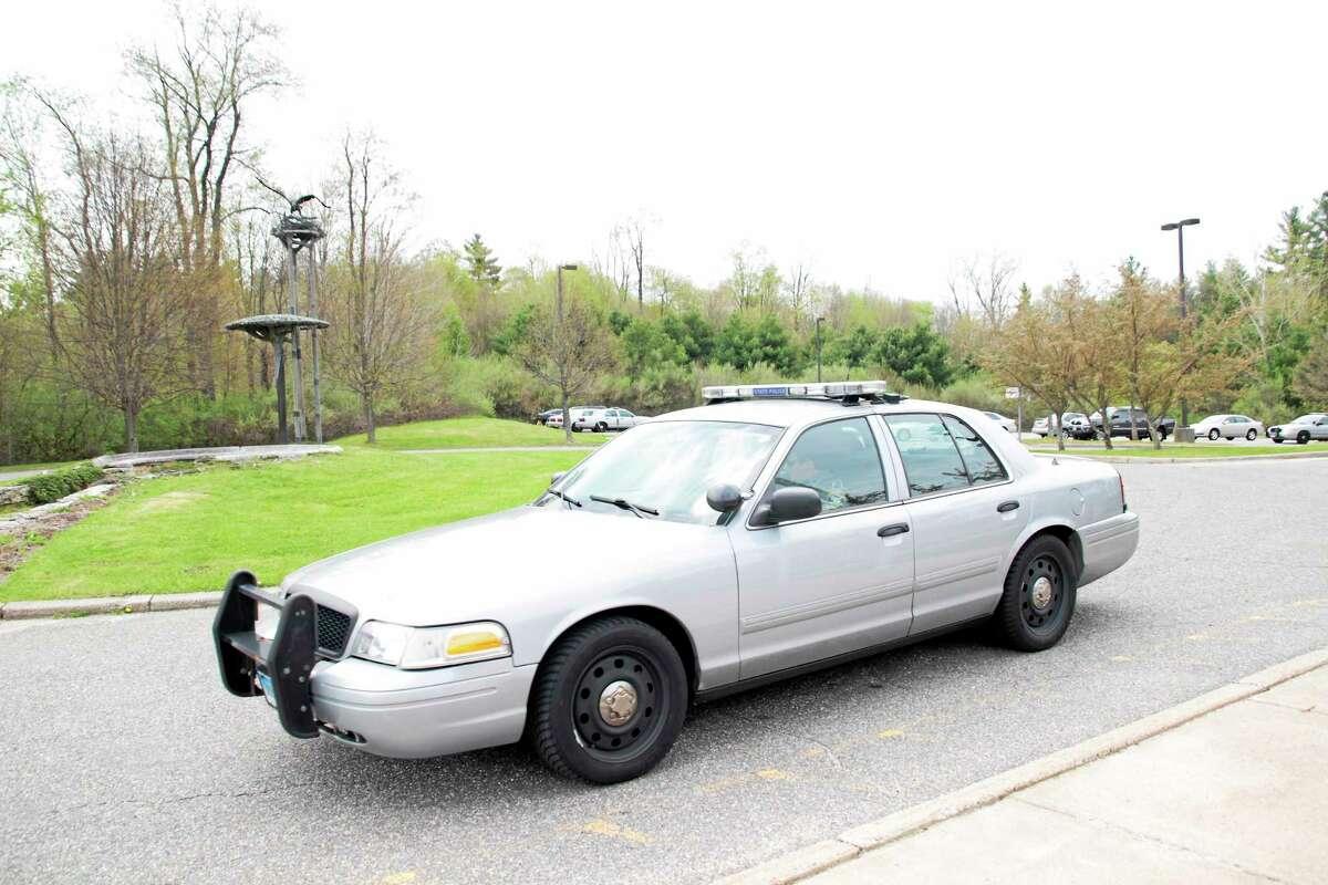 Trooper Keriann St. Germain's Connecticut State Police crusier.