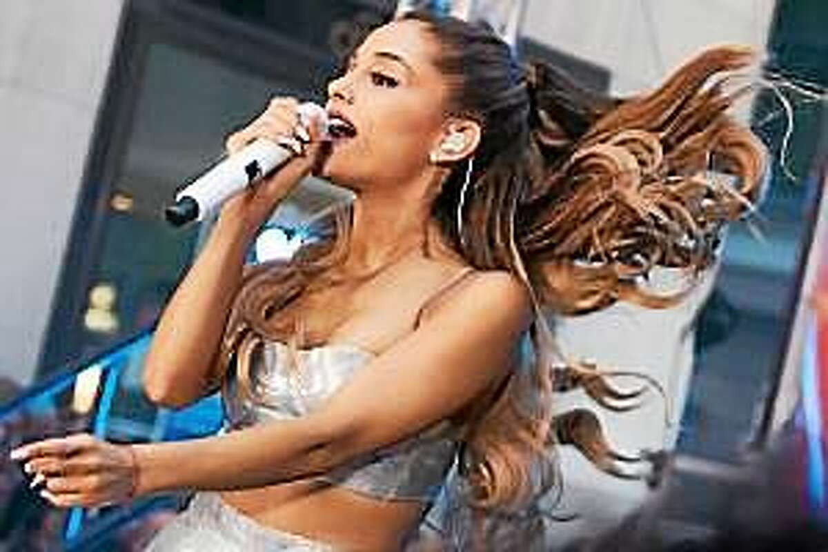 """Ariana Grande performs on NBC's """"Today"""" show on Friday, August 29, 2014, in New York."""