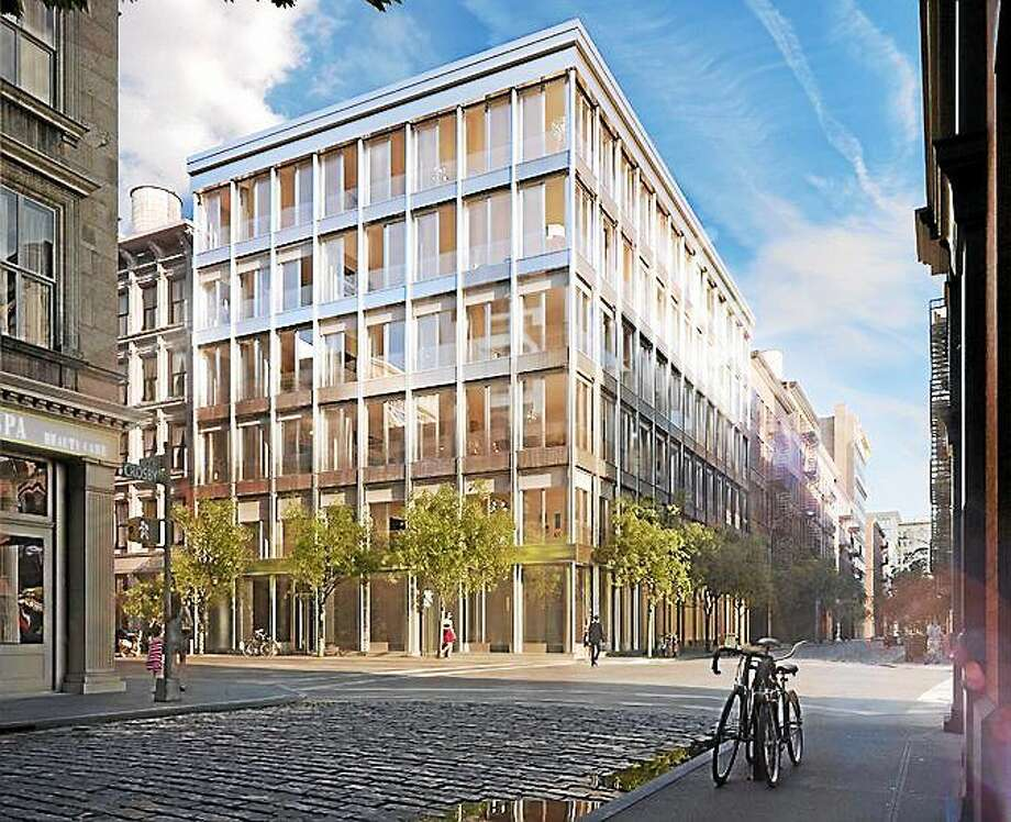 A rendering of 42 Crosby Street, which will have 10 parking spots available at $1 million each. Photo: Journal Register Co.