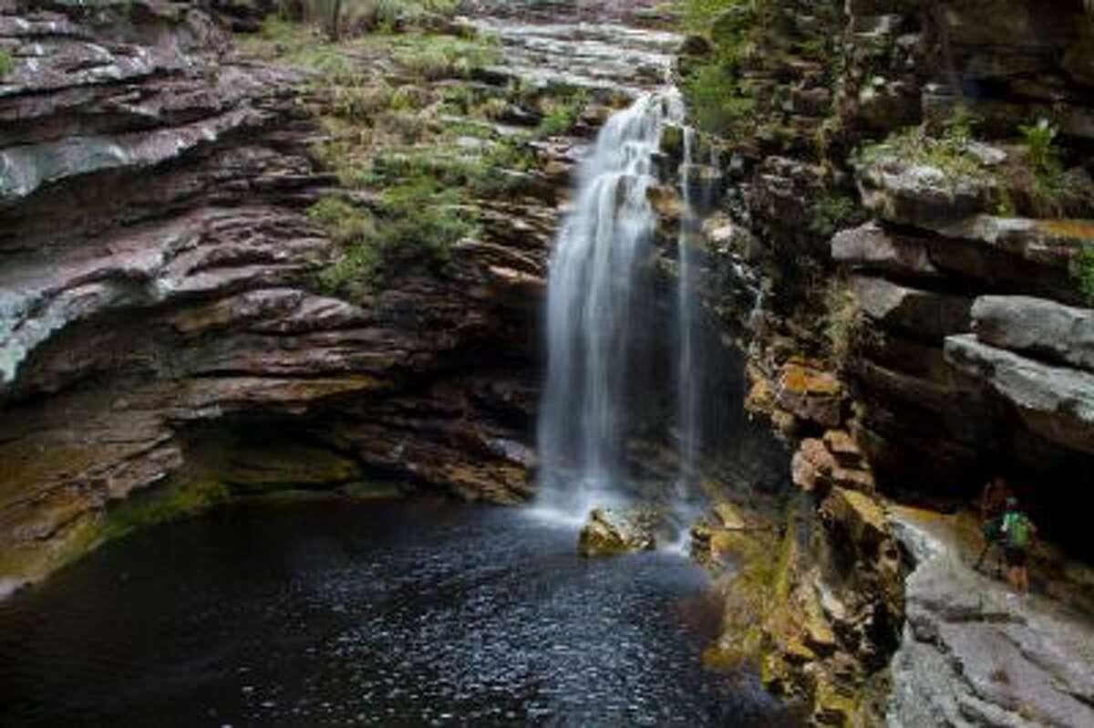 Brazil, Chapada Diamantina, Sossego waterfall.