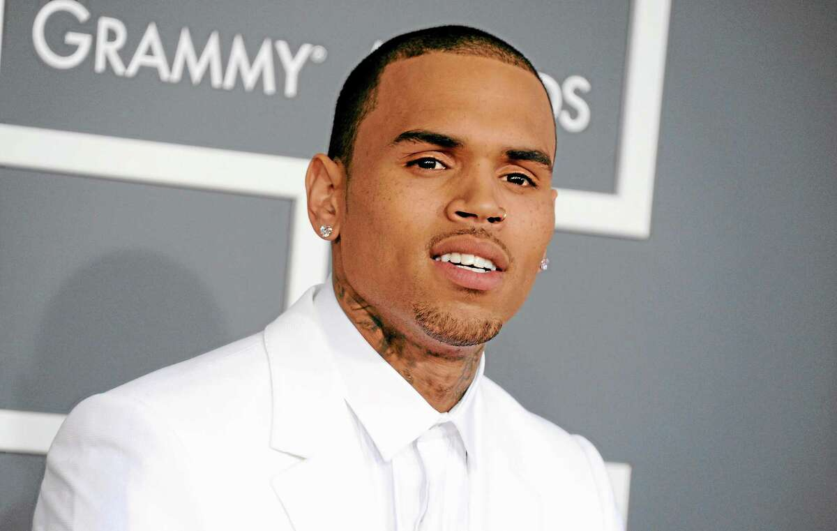 Chris Brown is photographed at the Grammy Awards in Los Angeles in February. (AP photo)