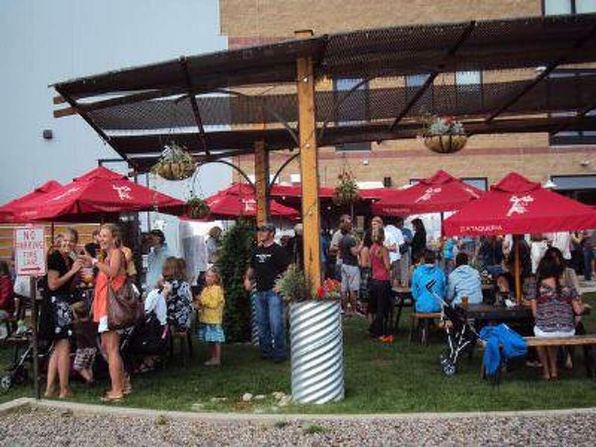 The beer garden at Ska Brewing Company in Durango.