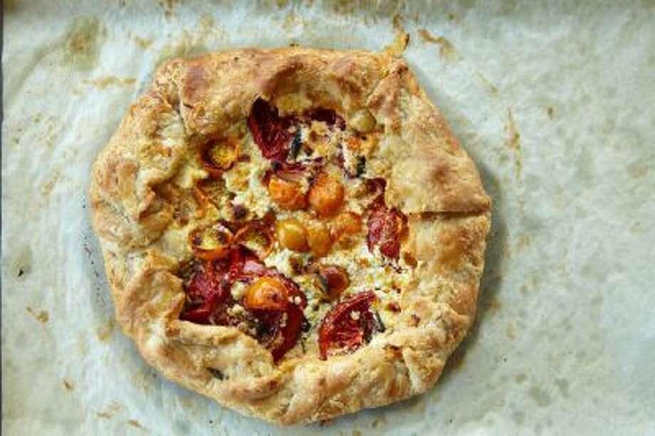 Rustic Heirloom Tomato Crostata.
