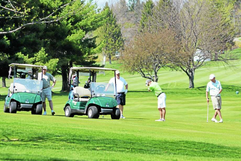 Golfers spent Monday at Torrington Country Club to raise money for the United Way of Northwest Connecticut during the organization's 33rd annual golf tournament. Photo: Jenny Golfin — Register Citizen