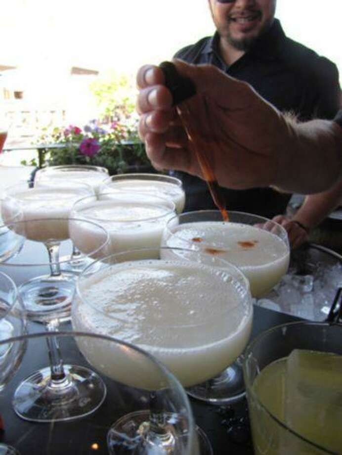 Pisco sours at a party hosted by Peru during the Aspen Food & Wine Classic.