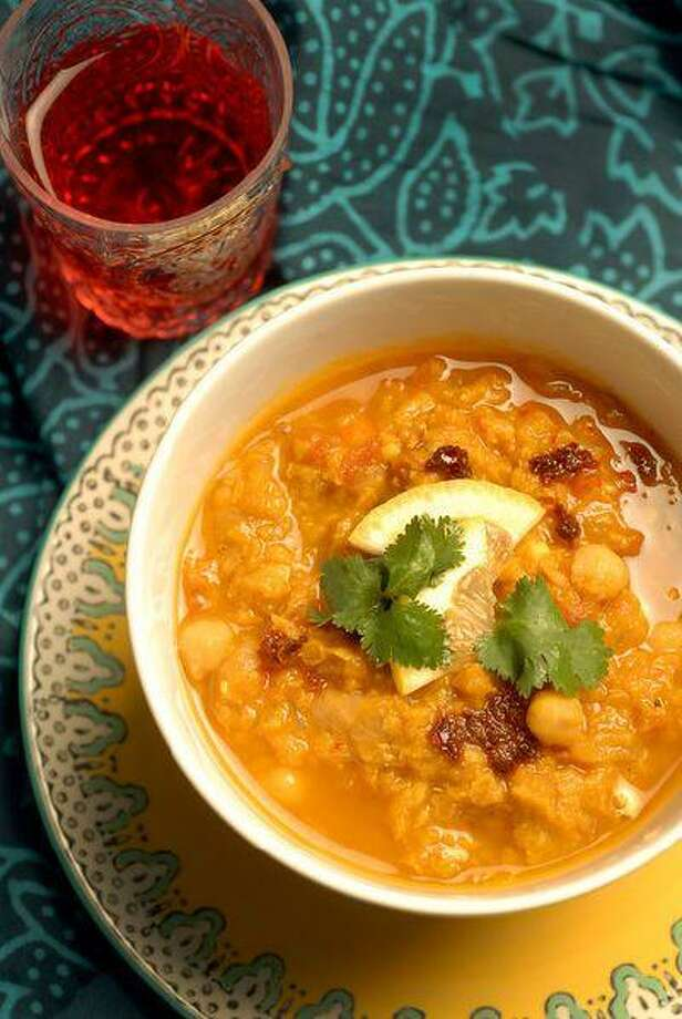 Moroccan-lentil chickpea soup. Photo: Bay Area News Group / Bay Area News Group