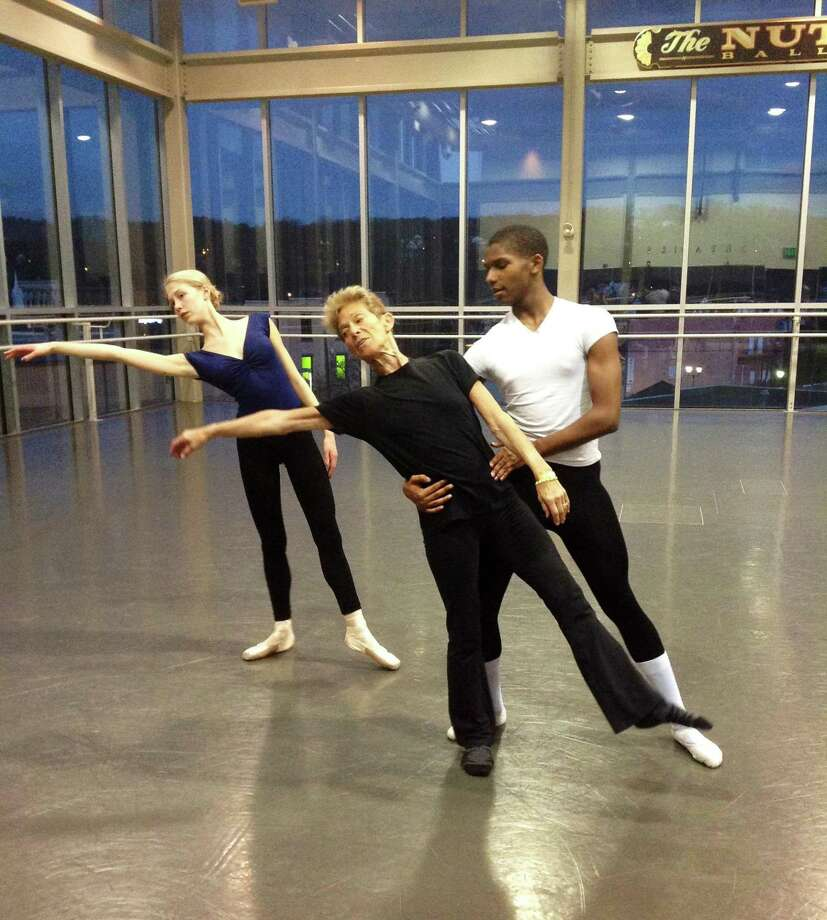 Guest artist Helen Helen Heineman rehearses with Quincy Childs and Thel Moore at the Nutmeg Conservatory in Torrington.