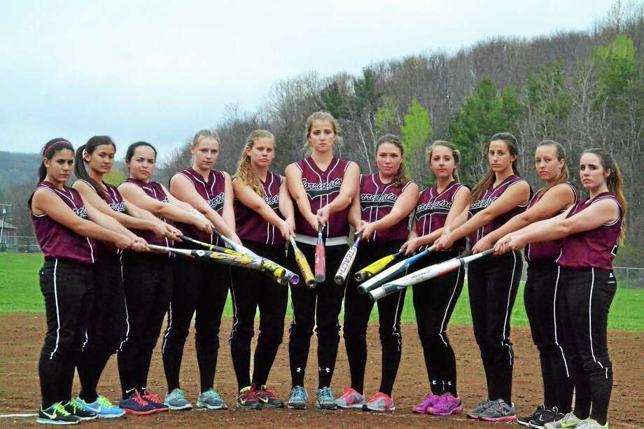 After a disappointing finish to last season the Torrington Red Raiders made it their number one goal to become a better hitting team and it has shown scoring about four more runs per game than they did last season. Photo: Pete Paguaga — Register Citizen