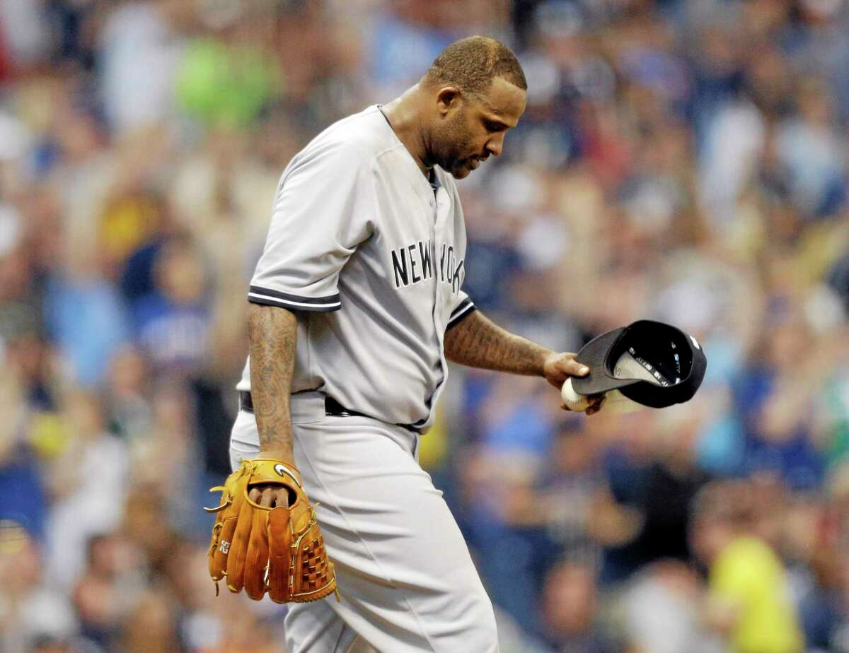New York Yankees starting pitcher CC Sabathia was placed on the disabled list with right knee pain.