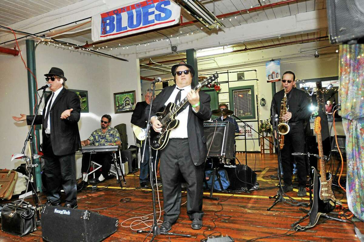 A Blues Brothers tribute band played at Pints for a Purpose on Saturday in Winsted. The innaugural event hosted at Whiting Mills included live music and beer tastings from a variety of brewers. Proceeds benefited the Northwest CT YMCA's Strong Kids Campaign. Laurie Gaboardi - The Register Citizen