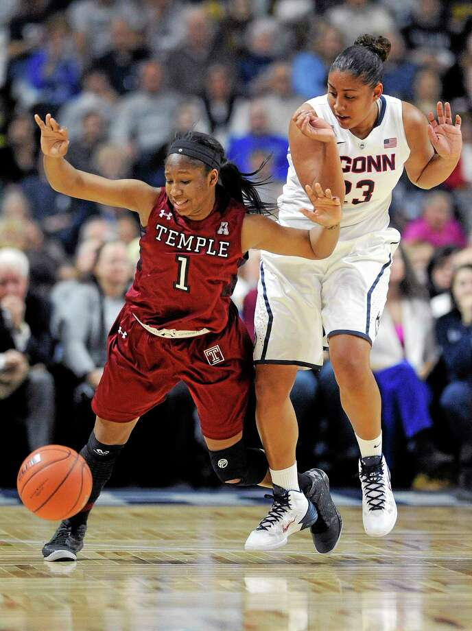 UConn junior Kaleena Mosqueda-Lewis is working her way back into shape for the Huskies after missing almost a month and a half. Photo: Fred Beckham — The Associated Press  / FR153656 AP