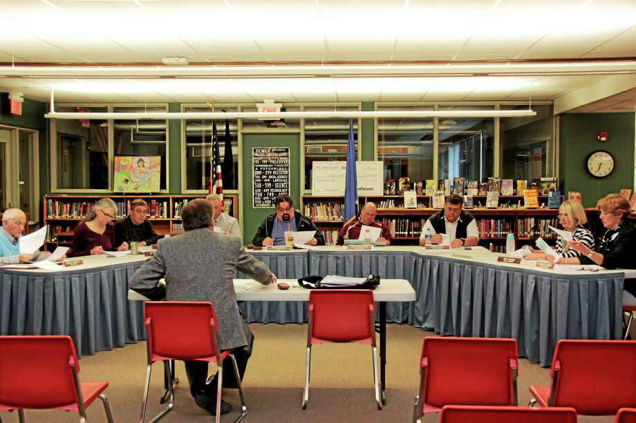 The Litchfield Board of Education heard presentations from several firms Thursday as part of their ongoing search for a new superintendent. Photo: Shako Liu — Register Citizen