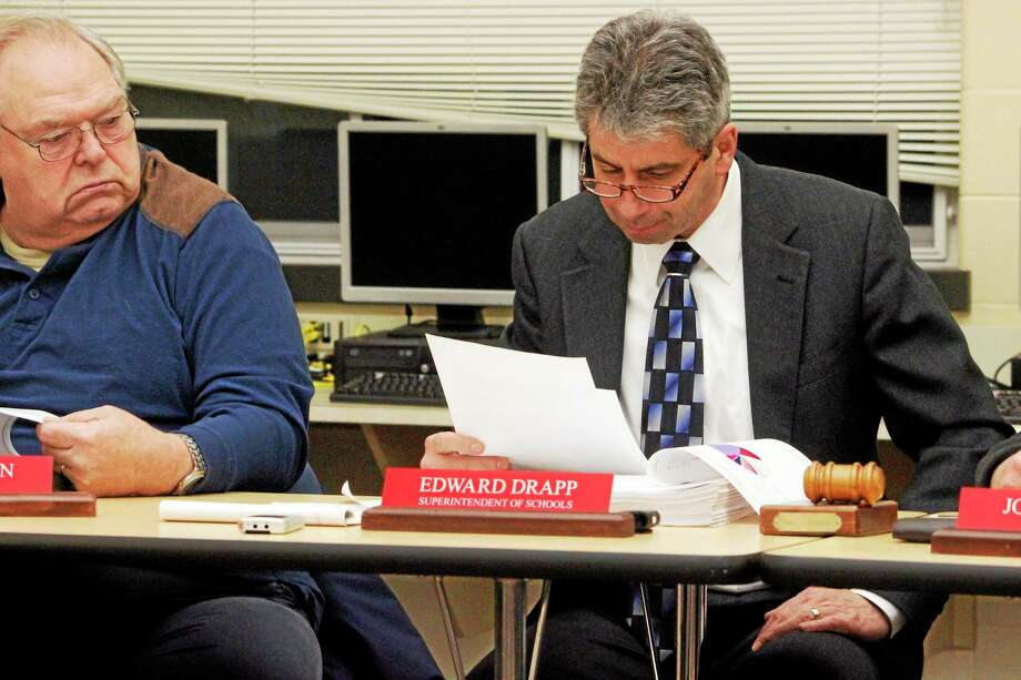 Region 6 Superintendent Edward Drapp as seen during a 2014 Board of Education meeting. Photo: Register Citizen File Photo