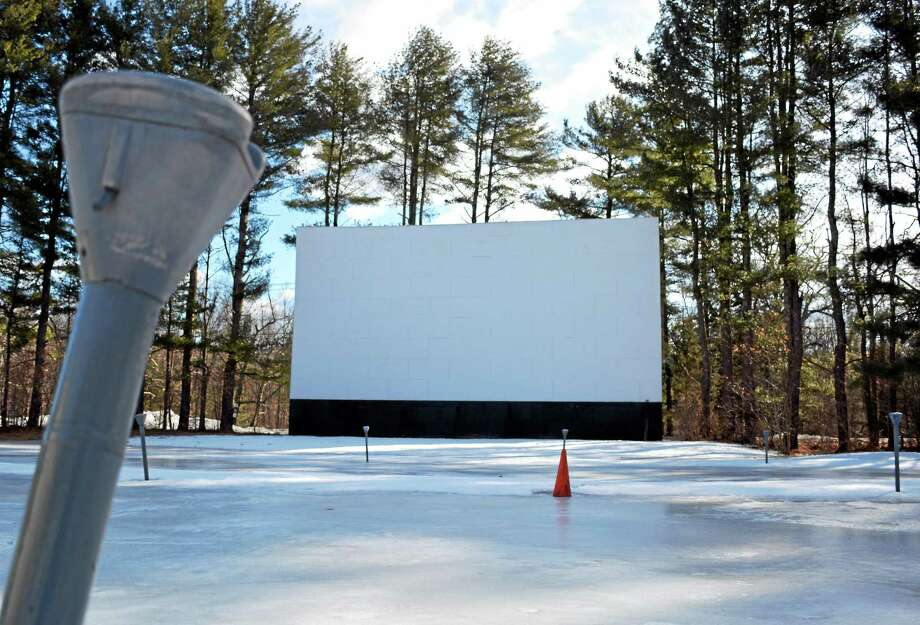 The Pleasant Valley Drive-in Theatre, located at 47 River Road in Barkhamsted, as seen in March. The drive-in has raised enough funds to bring its outdated film projectors in line with the film industry's switch to digital. Photo: Tom Caprood — Register Citizen