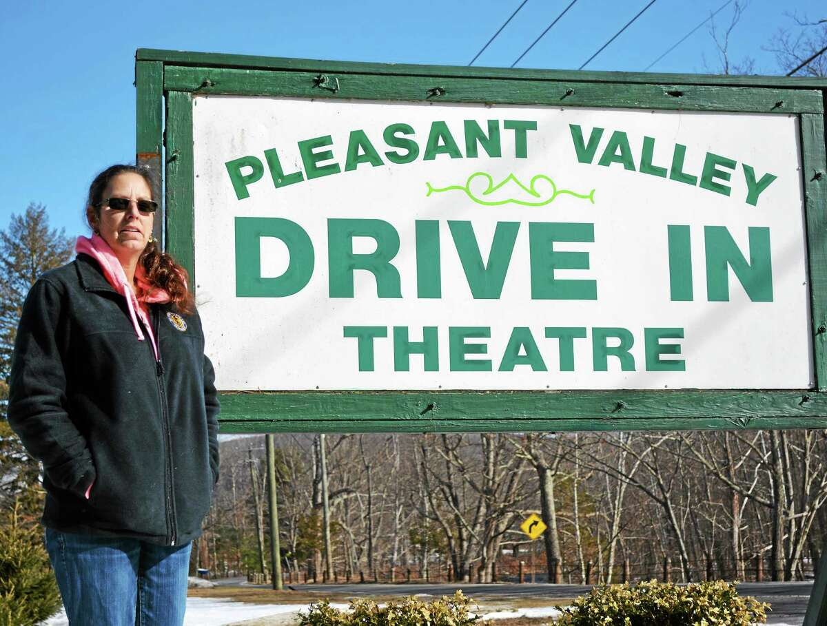 Donna McGrane, owner of the Pleasant Valley Drive-in Theatre.