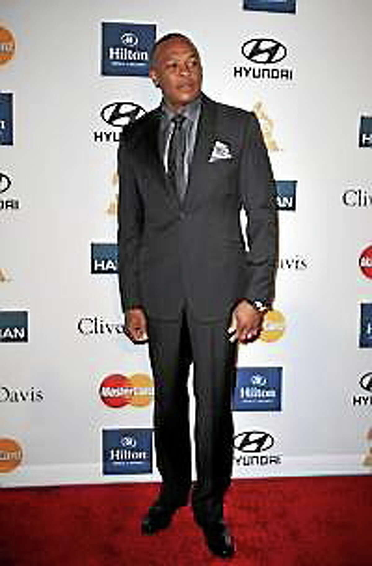 Dr. Dre arrives for the Clive Davis And The Recording Academy's 2012 Pre-Grammy Gala And Salute To Industry Icons in Beverly Hills, California, in this February 11, 2012, file photo.