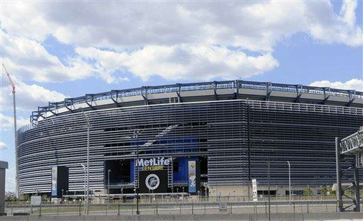 The home of the Giants and Jets, shown Tuesday, Aug. 23, 2011 in East Rutherford, N.J., is going to be called MetLife Stadium for the next 25 years. The New York-based insurance giant and the two NFL teams who co-own the stadium announced on Tuesday that MetLife has purchased the naming rights for the stadium, which will be the site of the 2014 Super Bowl. (AP Photo/Bill Kostroun)