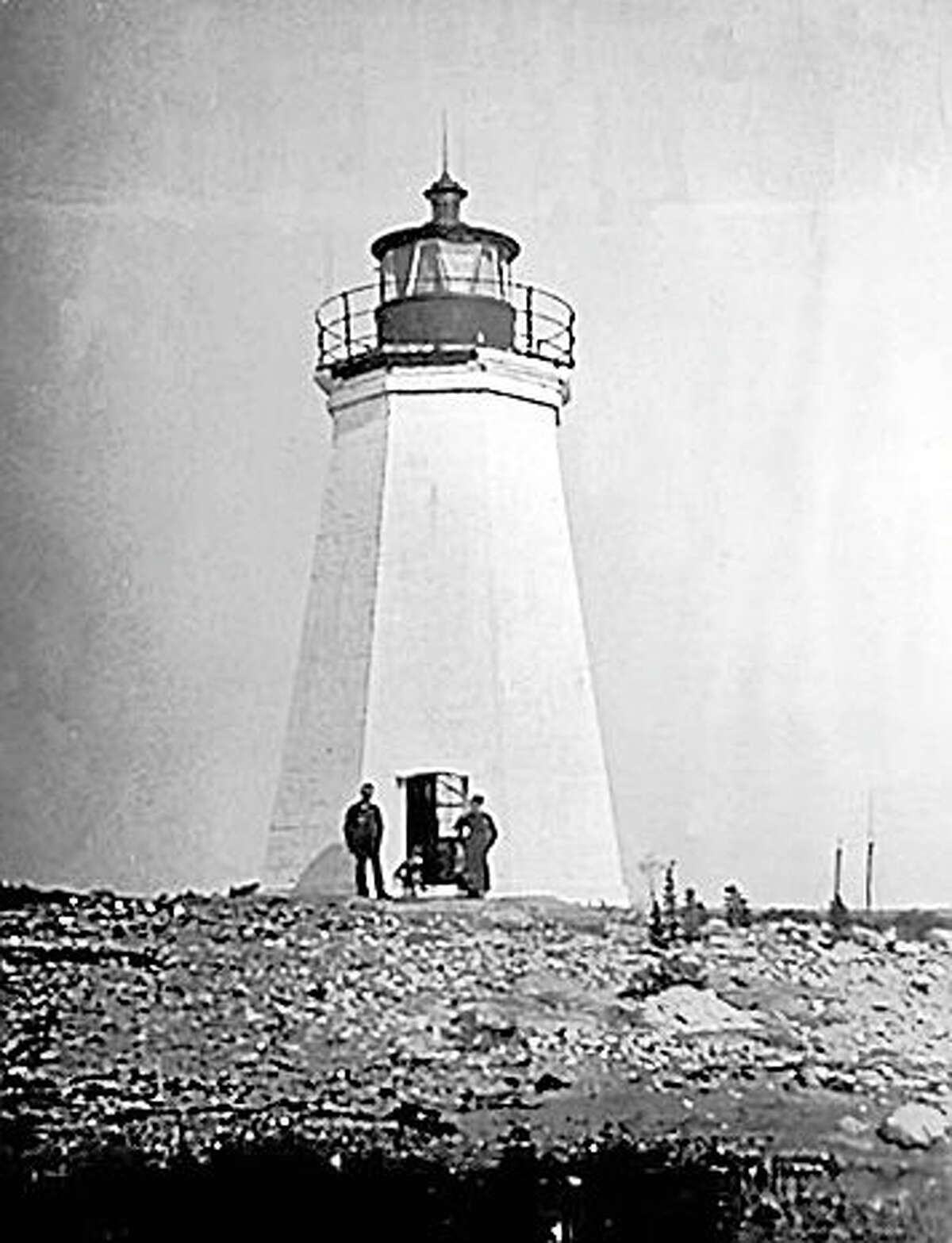 The Fayerweather Lighthouse in the early 1900s.