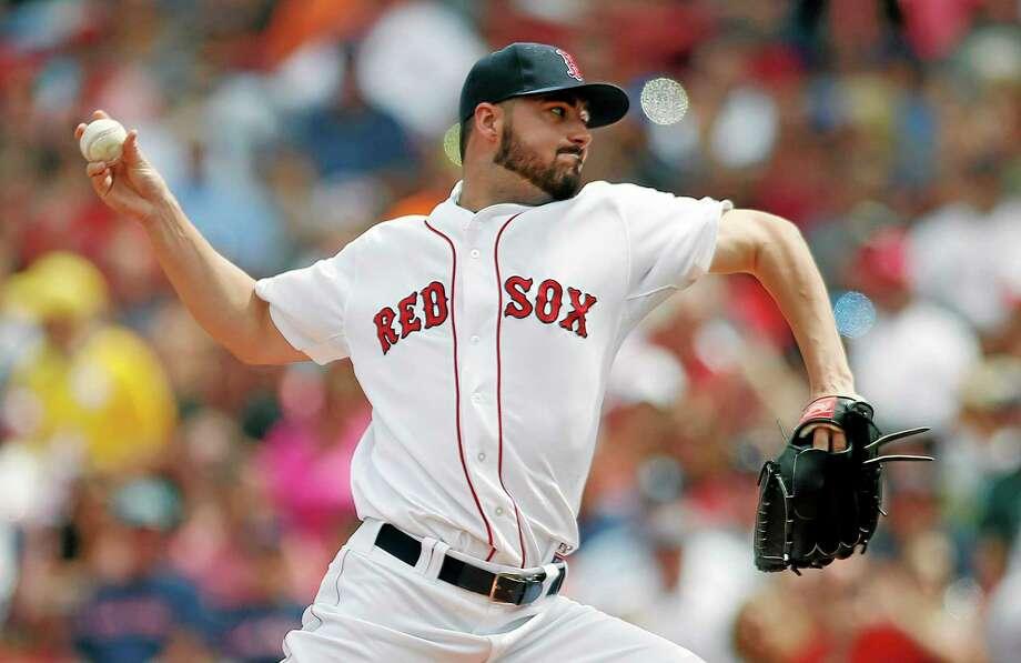 The Boston Red Sox have recalled pitcher Brandon Workman. Photo: Michael Dwyer — The Associated Press  / AP