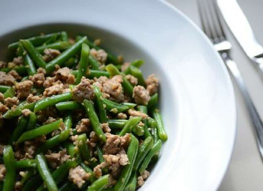 Gingered Green Beans With Ground Pork.