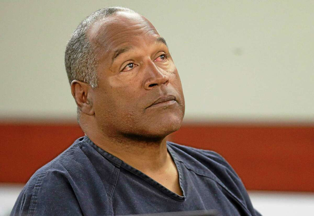 AP file photo This May 13 photo shows O.J. Simpson listening to testimony at an evidentiary hearing in Clark County District Court in Las Vegas.